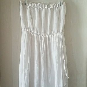 Beautiful White Strapless Dress by Just Be